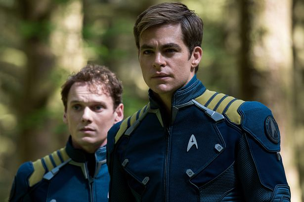 Kirk and Chekov, the late Anton Yelchin