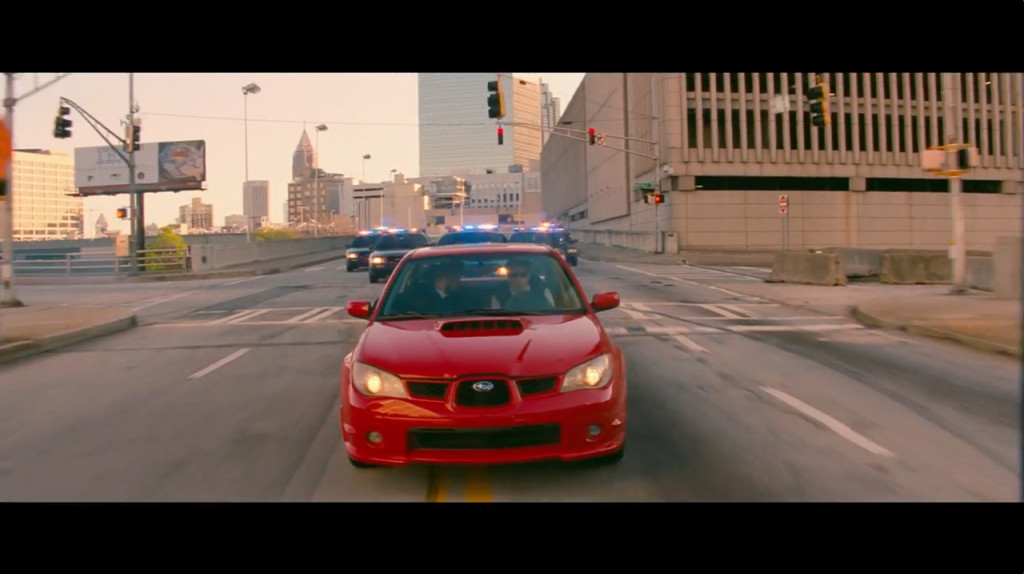 First getaway with Flying V of cops in chase.
