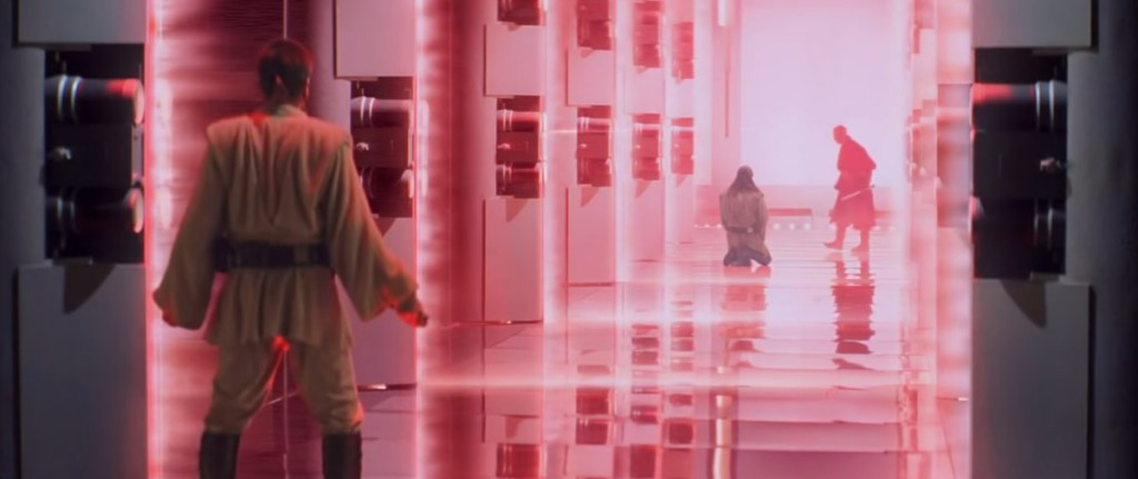 The laser doors that help Maul kill Qui-Gon