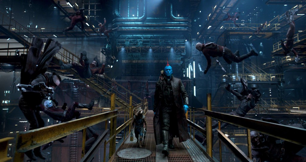 Yondu's whistle needle making bodies rain.