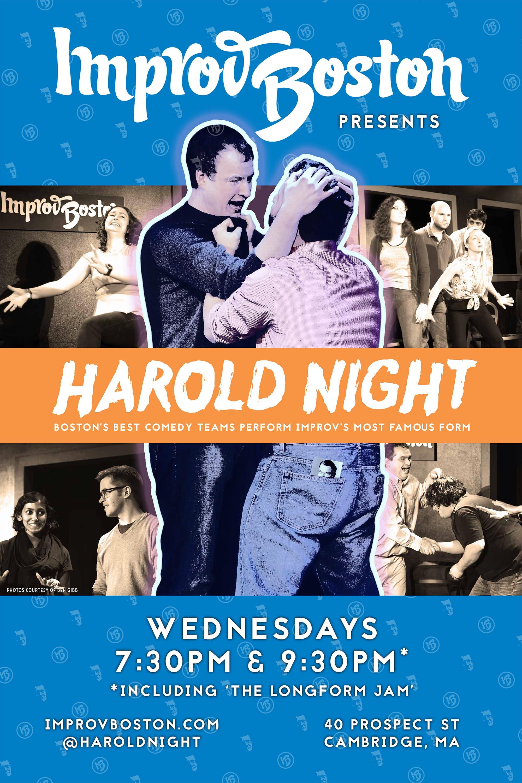ImprovBoston Harold Night Poster